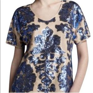 Tracy Reese New York Neiman Marcus 2 tone blouse